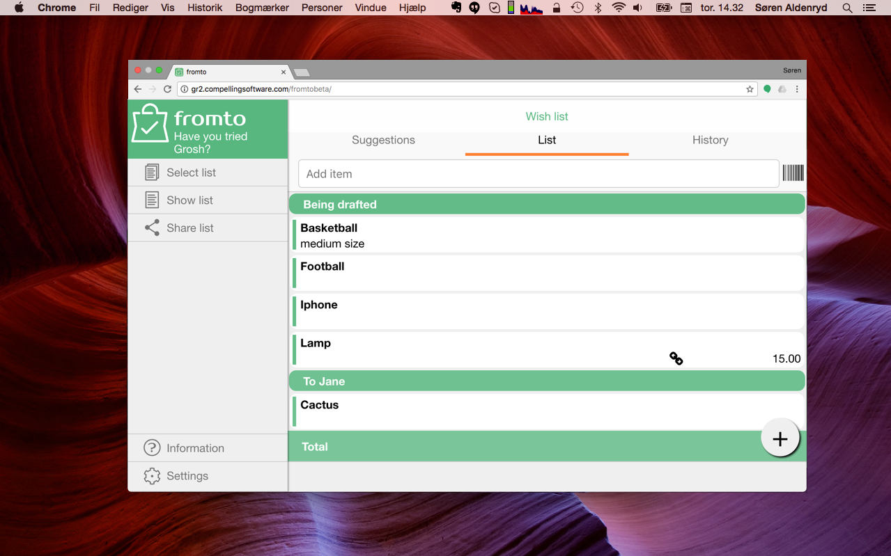 fromto-in-browser